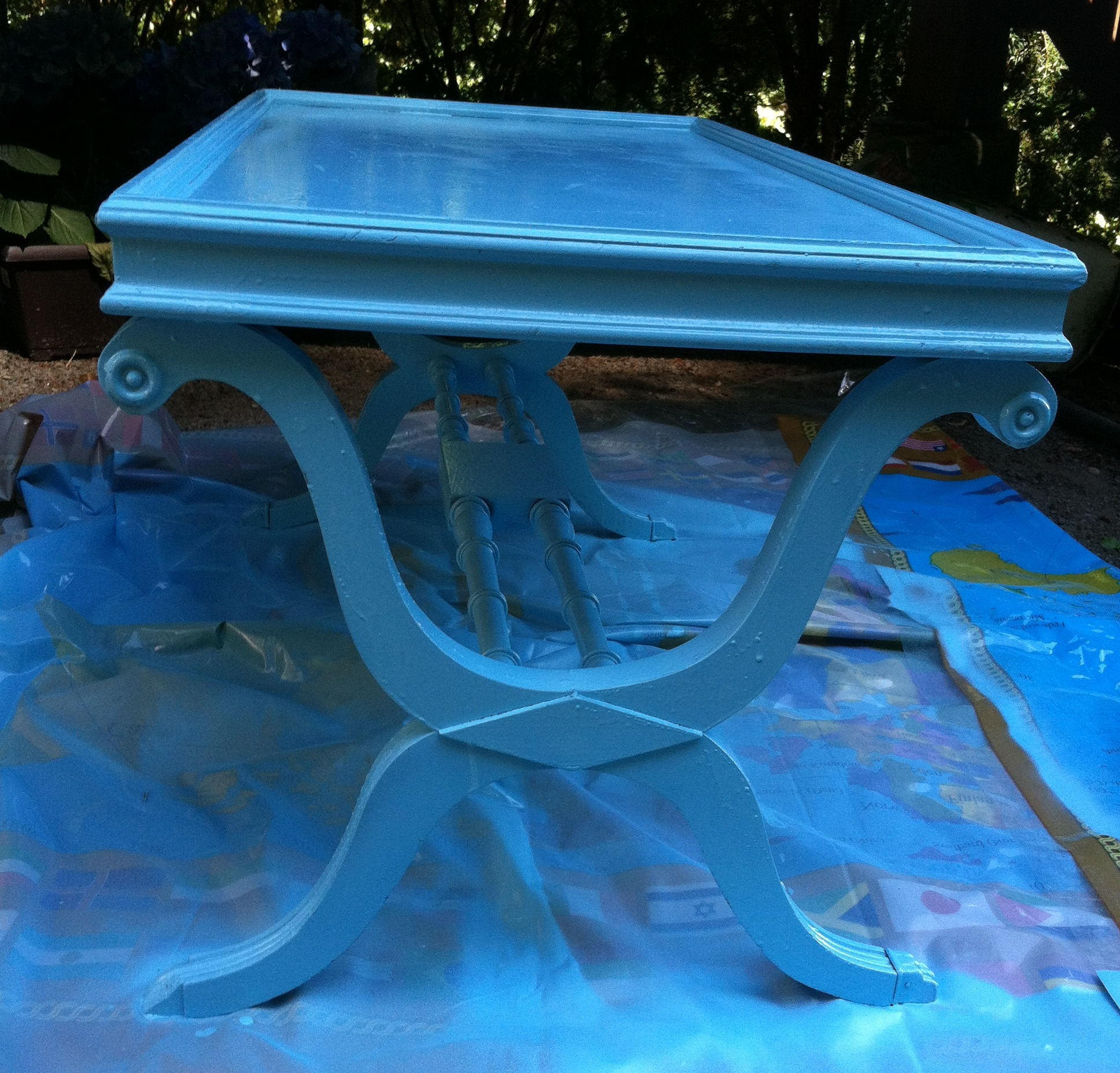 Then I Glued The Beach Glass To The Top.
