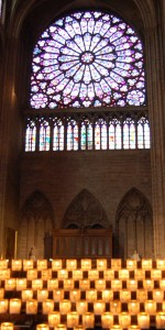 Rose Window candles